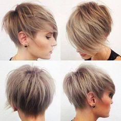 Imagine short hair and ash blond hair