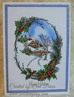 Stampendous Snowy Cottage