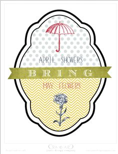 April Showers Bring May Flowers printable from Jones Design Company Printable Art, Free Printables, Jones Design Company, Diy And Crafts, Paper Crafts, Spring Art, Spring Time, May Flowers, April Showers