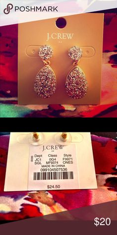 JCrew glitter earrings Simple. They match anything, and make your outfit look polished without being over the top. Classic! J. Crew Jewelry Earrings