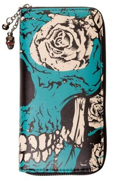 Blue Skull Wallet by Banned