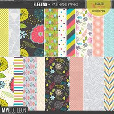 Snap Click Supply Co. - Fleeting   Patterned Papers, $3.99 (http://www.snapclicksupply.com/fleeting-patterned-papers/)