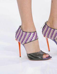 hot kicks- Just Cavalli #radiant orchid and  #celosia orange
