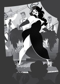 Black and White Burlesque by MissMatzenbatzen