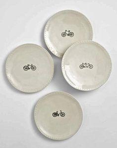 Rae Dunn Bike Plate Collection - Plates - Shop Nectar - 1