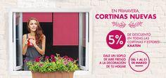 http://www.kaaten.com/  En primavera, ¡cortinas nuevas! 5% de descuento en todos los productos de la web. Solo durante el mes de marzo de 2016. ¡Aprovecha!