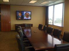 Large Conference Room AV Installation.