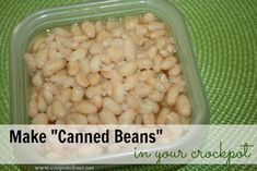 how to cook dried beans in your crockpot - Freeze them and use them instead of expensive canned beans!