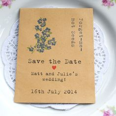 Save the Date | Recycled seed packet | save the date seeds | weddings UK