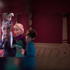 The Jelsa family. Queen Elsa, King Jack, Prince Derek, Princess Idella