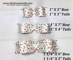 how to make a gift bow with the envelope punch board www.mystamplady.com