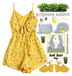 Bad Hair Day by jadelovespintrest on Polyvore featuring polyvore Mode style GUESS Marc Jacobs Marco Bicego Eugenia Kim fashion clothing PopsOfYellow NYFWYellow