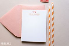 """""""Tiny Little Hearts"""" Personalized Stationery by Believe Notes"""