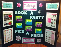 Booking Board - Works for most direct sales. Thirty One Party, My Thirty One, Thirty One Bags, Thirty One Gifts, Body Shop At Home, The Body Shop, Direct Sales Party, Direct Sales Games, Tupperware Consultant