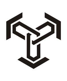 Geometric Symbols, Geometric Designs, Vector Design, Design Art, Logo Design, Cyberpunk Tattoo, Circle Tattoos, Tattoo Photography, Jackdaw