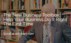 """Online class: """"The New Business Toolbox: Help Your New Business Do It Right The First Time"""" By Seth Godin, entrepreneur and author. """"This fast-moving class features hands-on, strategic and practical tactics every small businessperson ought to consider as she sets out to grow her business."""" http://buff.ly/1g5vTlC"""