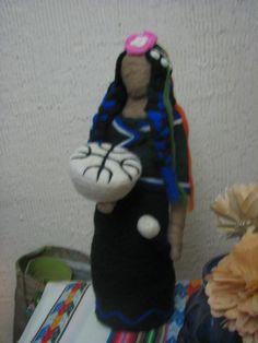 needle-felt medicine woman inspired in Mapuche culture by mialma. Animal Totems, Needle Felting, Batman, Fairy, Dolls, Disney Characters, Handmade, Animals, Inspiration