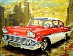 pinturas de carros antiguos - Buscar con Google