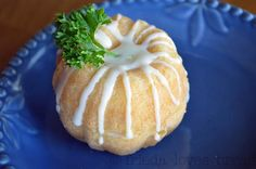 Mini Orange Bundt cake.  I have to get me one of these tins!
