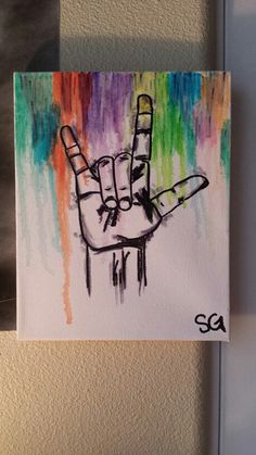 """No need for words."" SIGN LANGUAGE- Sharpie alcohol and paint pen artwork on…"