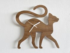Cat Walking  Wooden Wall Clock by SolPixieDust on Etsy, $24.90