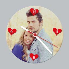 Een persoonlijke klok. Gemaakt op http://www.justsign.nl