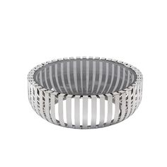 This intriguing coffee table would be the perfect addition to your living room. The 8 mm smoked glass top is perfectly highlighted by the circular cage-like stainless steel base, creating a soft yet stunning contrast.