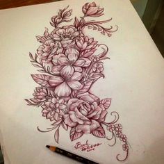Random lovely flower #flowerdrawing#tattooidea#girltattoo#tattooflash