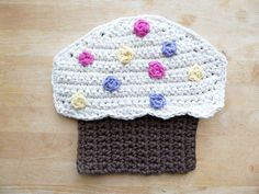Cotton Crocheted Cupcake Pot Holder/Hot Pad