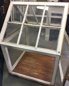 Replacing your old windows or windowed doors with more energy efficient ones? Here's a project to repurpose those old windows.