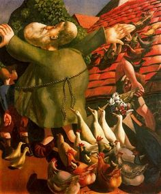 Saint Francis and his birds - Stanley Spencer