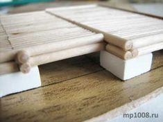 Домик из дерева и деревянных палочек от мороженого