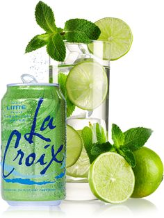 """mojito"" mocktail recipe using Lacroix Water. A healthy and refreshing way to stay hydrated! #Lacroix #sparklingwater"