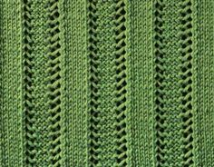 Raised Knit Ribs. A simple, yet very nice stitch with vertical eyelets creating the illusion of raised knit ribs. Especially suitable for light throws (Hagaina Dwi Septya Rainy FD1A1)