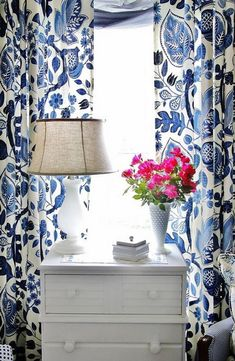 Clearance sale -- PLEASE READ ? Make a statement with these cobalt and off white Ikat fully lined curtains. This listing is for 1 fully lined curtain panel 50 inches wide.****SOLD PER PANEL *****The fabric in the drapery pictures was discontinued and I finally found a close match just