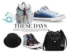 """""""Untitled #15"""" by elma-kikic ❤ liked on Polyvore featuring Converse, Aéropostale, MICHAEL Michael Kors and FOSSIL"""