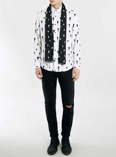 Photo 3 of Nick Grimshaw x Topman White Paint Splatter Shirt