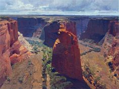 Canyon De Chelly -- oil painting 30 x 40 inches by Mian Situ 2013