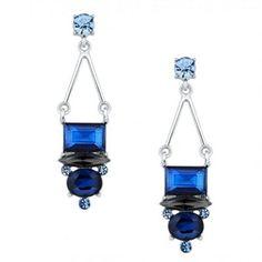 J by Jasper Conran Designer mixed blue stone chandelier earring- at Debenhams.com