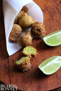 Cilantro Hush Puppies {Beard and Bonnet} #glutenfree