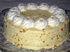 Luscious Mango Cake Made This For My Brother S Graduation Love The Tropical Flavor Pinoy Foodfilipino Foodmango Recipe