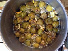 Confiture de figues blanches : Recette de Confiture de figues blanches - Marmiton Chutney, Sprouts, Vegetables, Food, Liqueurs, Inspiration, Vanilla, Sugar, Sweet Recipes