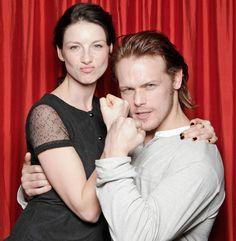 Outlander stars Caitriona Balfe and Sam Heughan are pumped for fans to see their new series, adapted from the best-selling novels, coming to STARZ this summer.