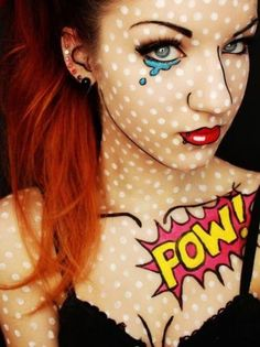 Easy Halloween Makeup - Pop Art - CosmopolitanUK