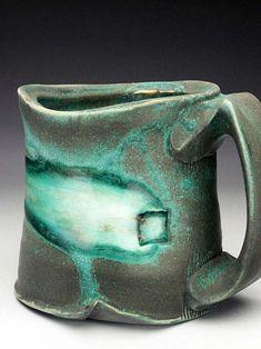 Shadow May - green & black mug