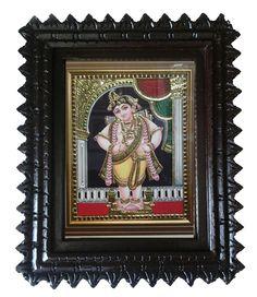 Standing #Krishna tanjore #painting shop at #craftshopsindia