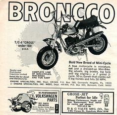 1969 Bronco Mini_Bike Advertising Hot Rod Magazine September 1969 | Flickr - Photo Sharing!