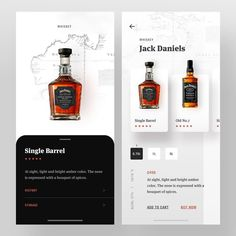 Jack Product Details designed by Faria Anzum. Connect with them on Dribbble; Web Design, App Ui Design, Label Design, Banners, Ui Design Mobile, Ui Design Inspiration, Landing Page Design, Jack Daniels, Whiskey