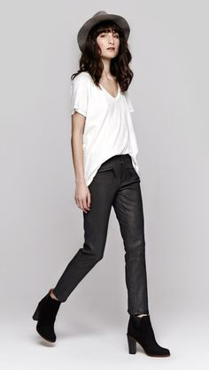 Theyskens' Theory Plove N Leather Pant