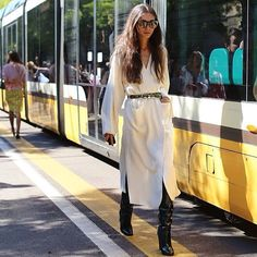 @diletta_grazia_it spotted by @leeoliveira of @nytimesfashion wearing Pollini FW15 boots. #mfw #Pollini #boots